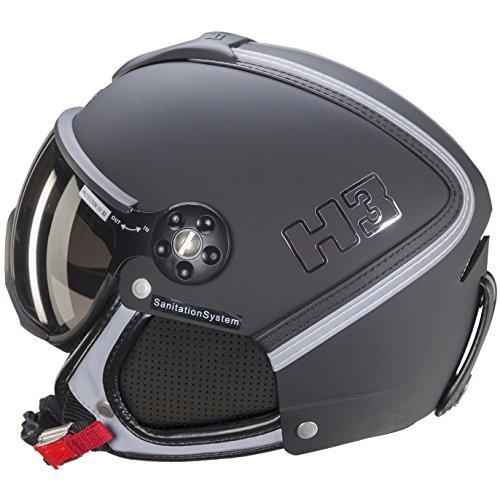 HMR – Skihelm H3 schwarz/Silber – Herren – Schwarz M Schwarz