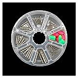 43 unids 100% tungsteno uñas Pagoda Pesca Pesca Pesca Pequeño gusano fino pesas Pesos Fundadores Inserte en señuelos de plástico suave Conjunto con caja de pesca al aire libre Accesorios Accesorios de