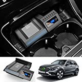 Cargador de teléfono inalámbrico, cargador inalámbrico estándar Qi de carga rápida de 10 W para Mercedes-Benz Glc 2016-2020 Cargador de soporte de teléfono para automóvil para iPhone 12/11 / XS / XR