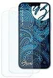 Bruni Película Protectora Compatible con Apple iPhone 13 Protector Película, Claro Lámina Protectora (2X)