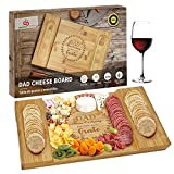 Dad Gifts - Dad Christmas Gifts - Dad Bamboo Cheese Board - Xmas Gift for Father from Daughter Son Kids - Best Birthday Presents Ideas for Papa Step Dad Grandpa Regalos de Navidad para Abuelo