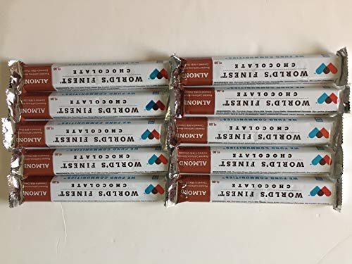 FRESH and NEW - 10 Bars - World's Finest Chocolate -Milk Chocolate With Almonds