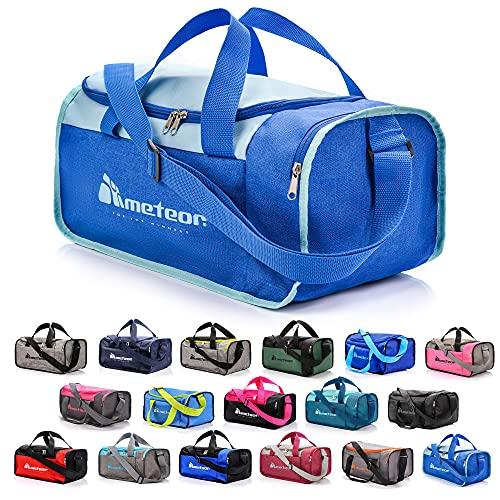 Bolsa de Deporte Gimnasio Fitness Viaje Vacaciones Deportiva - Bolso Universal con Bandolera - Bolsa plegada Ideal para jóvenes y Adultos, Hombre y Mujer 20L y 40L (Azul, 40 L)