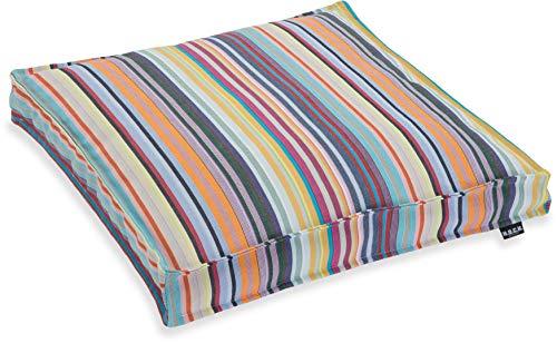 H.O.C.K. Yucatan Outdoor Sitzkissen/Stuhlkissen für den Garten, wasserabweisend/lichtecht (50x50x5cm, Pastell)
