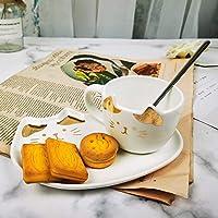 コーヒーマグカップコーヒーカップ かわいい猫セラミックコーヒーマグセットハンドグリップアニマルマグトレイ付きクリエイティブドリンクウェアコーヒーティーカップノベルティミルクカップ朝食、白