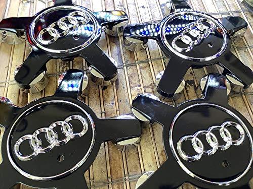 4pcs. Audi Tapa A4S4y S5A5A6S6S8, Q5, Q7, TT del Centro de rueda Hub Caps Set Negro