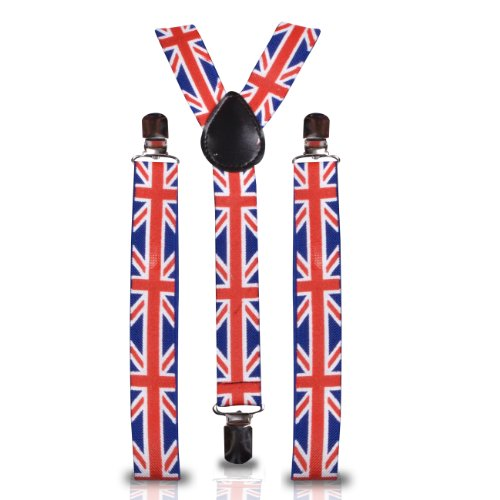 Shukan Fashions - Bretelles - Homme Multicolore UK UNION JACK
