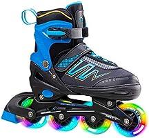 Hiboy Verstelbare inline skates met alle verlichte wielen, verlichte outdoor- en indoor-rolschaatsen voor jongens,...