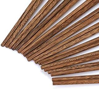 Natural Wood 10 Pairs Asian Chinese Chopsticks Set Healthy Wooden Chop Stick