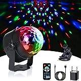 HOOMU ステージライト ミラーボール USB パーティーライト マッジクライト ディスコライト 5Vミニ車載DJライト 音声制御 ホロウィン/クリスマス雰囲気作り用レザーライト