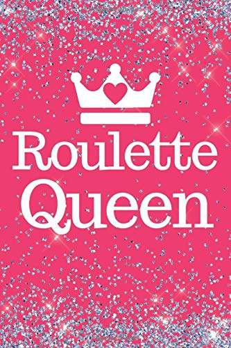 Roulette Queen: Pink Roulette 6x9inch notebook/planner. Great gift for roulette lovers for Xmas, Birthday, Valentine or Any Occasion. Ideal stocking Filler or Secret Santa.