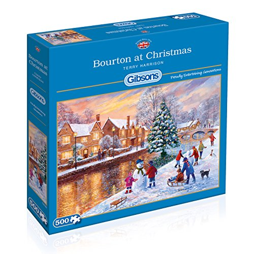 Gibson Games - Puzzle, Soggetto: Bourton a Natale, 500 pz.