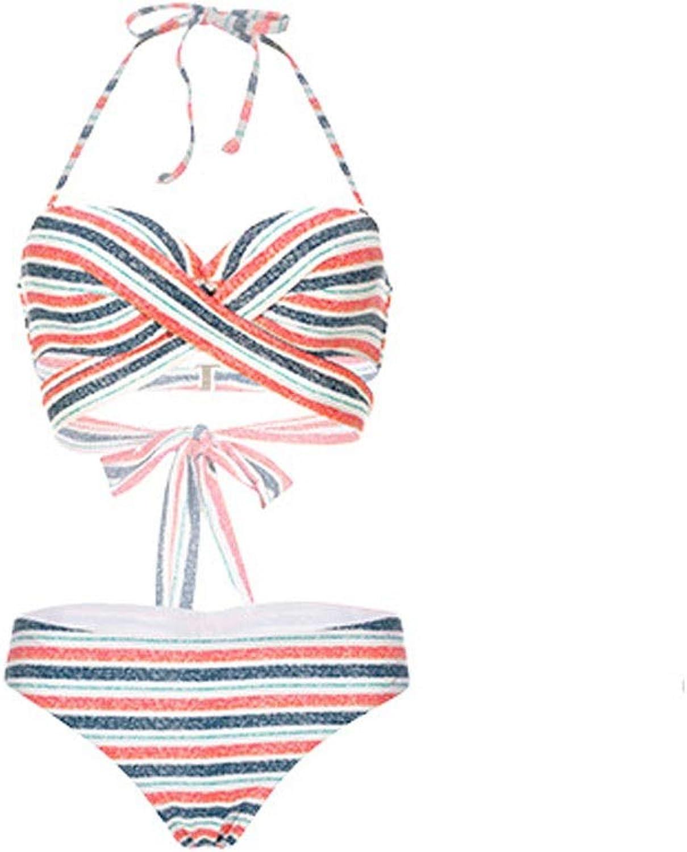 Sisia sexy bikini with big bosoms, three-piece women's swimsuit with small bosoms, closed loop beach split swimsuit