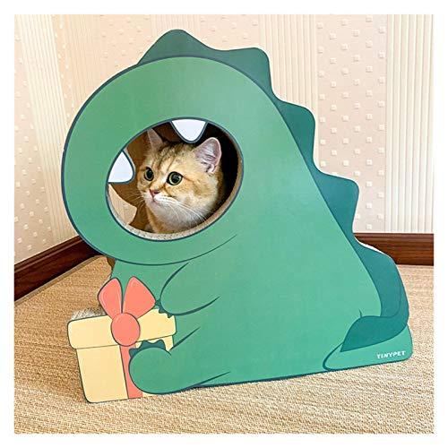 YSJSPKK Árbol para Gatos Gato Juguete Gato raspador pequeño Dinosaurio Corrugado Gato raspador Gato Escalada Marco Gato Pata Placa Dinosaurio Gato Suministros (Color : Little Dinosaur, Size : L)