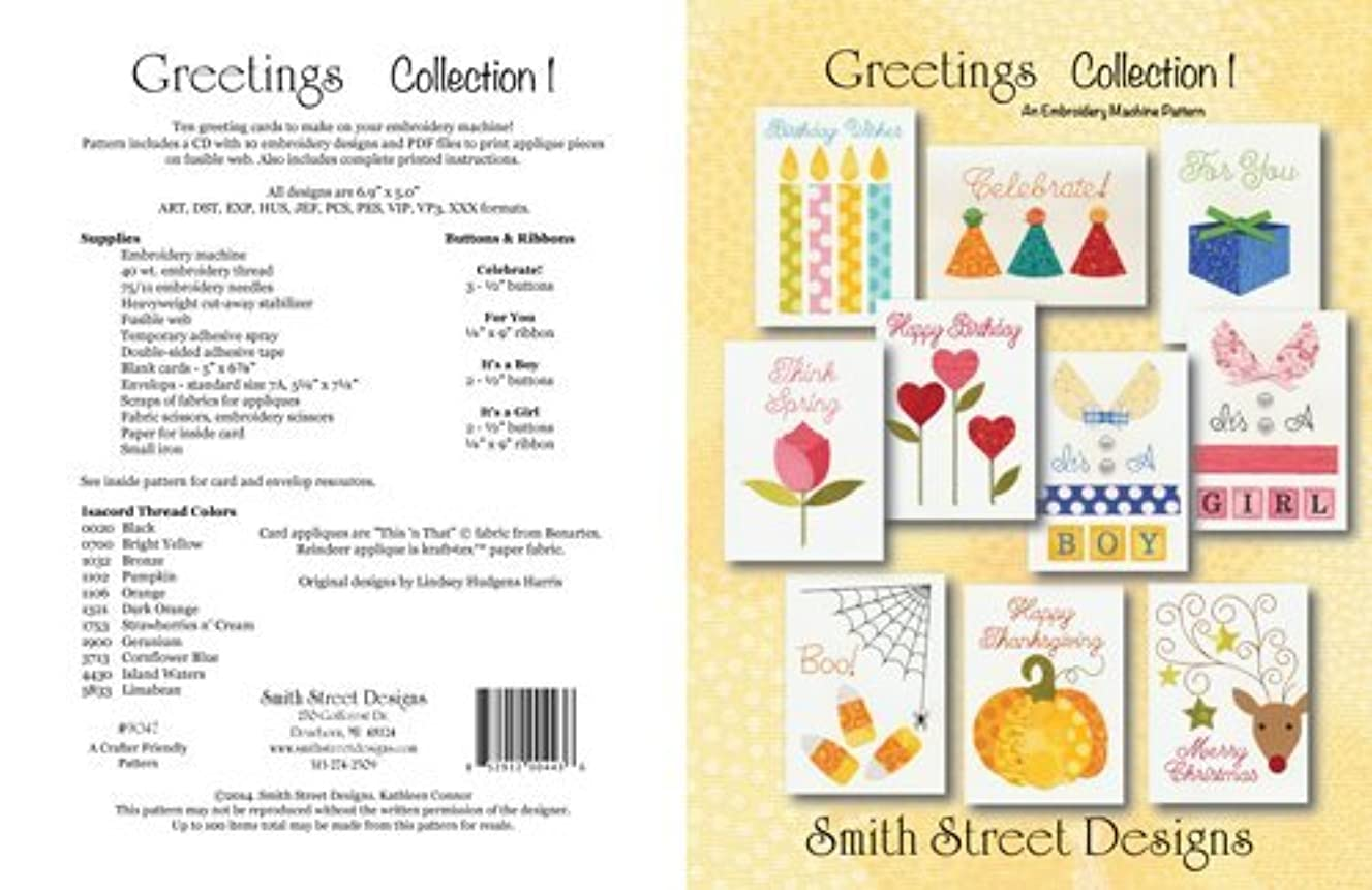 Greetings Collection 1 Embroidery Designs By Smith Street Designs