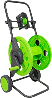 Hylan Garden Water Hose Reel Cart with Hose Guide and Hand Crank, Portable 2-Wheel Watering Outdoor Landscape Pipe Storage...