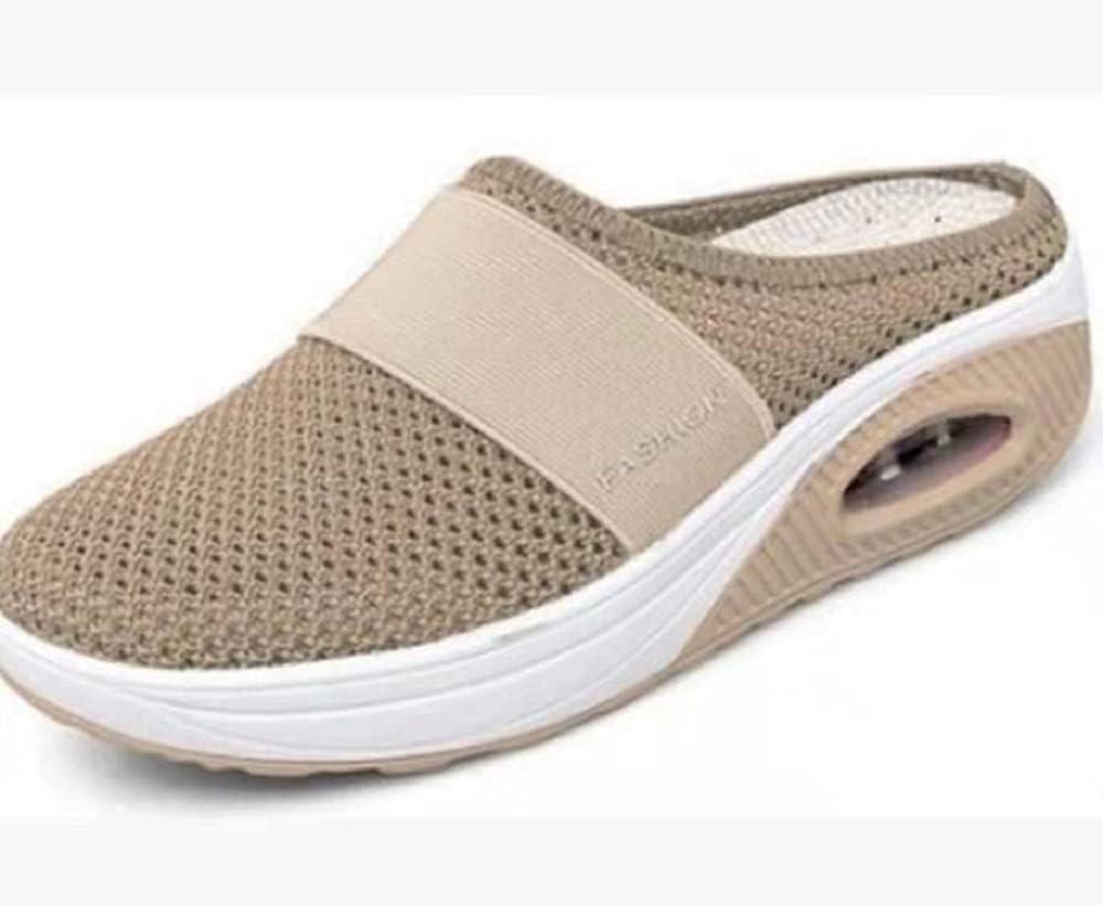 Zapatos para Caminar sin Cordones con cojín de Aire para Mujer, Zapatos para Caminar ortopédicos para diabéticos, Zapatos sin Cordones con cojín de Aire Informales de Punto