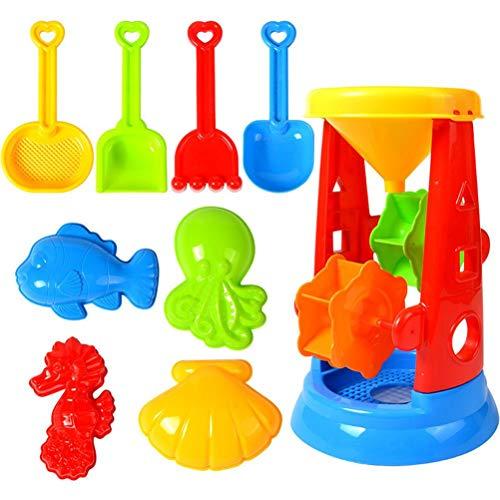 Juego de juguetes de arena de playa, juguetes de arena de verano, juguetes de baño de bebé, cubo de animales y pala, kit de herramientas al aire libre, juguetes de arena para niños, 16 piezas