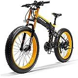 Bicicleta electrica Bicicletas, 1000W Fat Bike Electric Bike 48V 14.5Ah Mountain Mountain Ebike 27 Velocidades 26 pulgadas Carretera Bicicleta Bicicleta Bicicleta Pedales con frenos de disco hidráulic