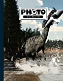 Photo Album: Album, Large Photo Albums with Writing Space Memo, Extra Large Capacity Picture Album, Family, Baby, Wedding, Travel Photo Book, 120 Pages | Suchomimus Dinosaurs Cover by Dagmar Naumann