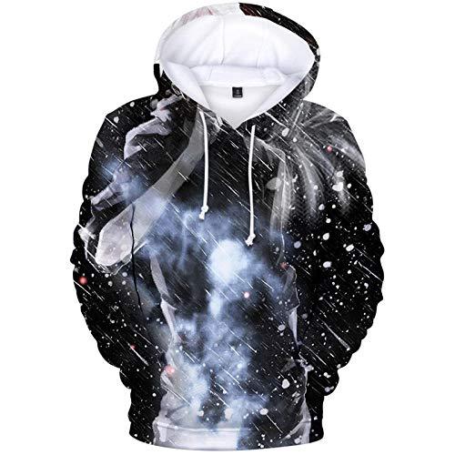 Unisex Tokyo Ghoul Kapuzen Pullover Kordeltasche Design Hoodie Größe-A_XXS