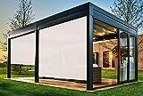 EB ESTORES BARATOS Persiana Enrollable Exterior Tecnoscreen/Bloqueo UV 70% / Microperforado (no Hace Efecto Vela). Medidas Ancho x Alto. Color: Blanco Lino. Medidas: 134cm x 180cm