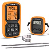 Conor Wireless Remote Digital Meat Thermometer, Cooking Food Thermometer with Dual Probe for...
