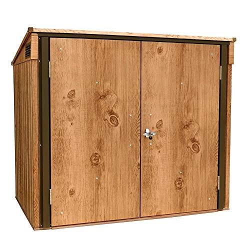 Tepro Mülltonnen-Box für zwei Tonnen, Metall Mülltonnen-Verkleidung Mülltonnenbox
