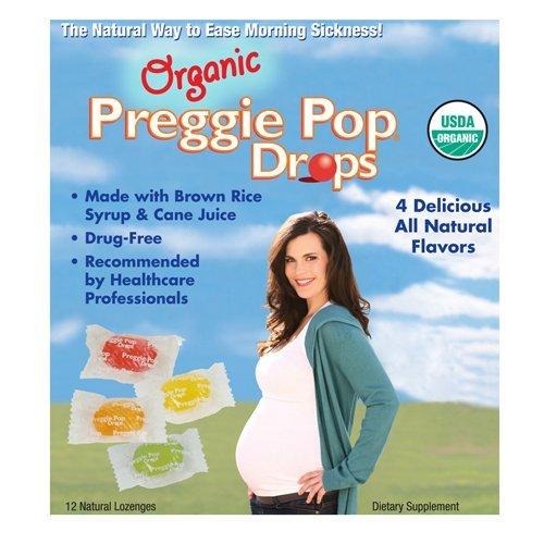 Three-Lollies Organic Preggie Pop Drops for Morning Sickness Relief,...