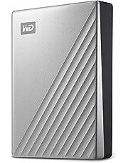 WD My Passport Ultra for Mac zewnętrzny dysk twardy 4 TB (pamięć mobilna, oprogramowanie WD Discovery, ochrona hasłem, kompatybilny z Mac, łatwy do zainstalowania) srebrny