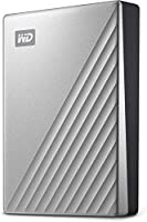 WD 4TB My Passport Ultra Silver Portable External Hard Drive HDD, USB-C and USB 3.1 Compatible - WDBFTM0040BSL-WESN