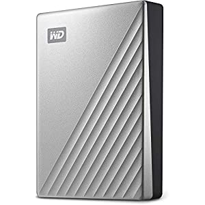 WD 1TB My Passport Ultra Silver Portable External Hard Drive HDD, USB-C and USB 3.1 Compatible – WDBC3C0010BSL-WESN