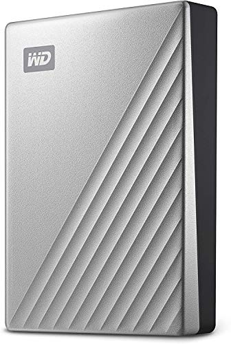WD My Passport Ultra for Mac externe Festplatte 4TB (mobiler Speicher, WD Discovery Software, Passwortschutz, Mac kompatibel, einfach einzusetzen) silber