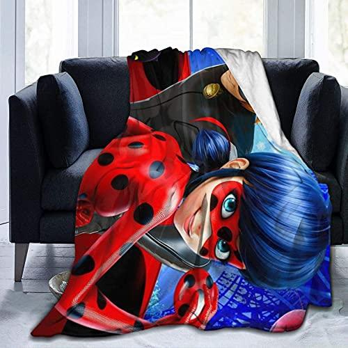 Llavero de pulsera de acción Mayura Mira-cul-ous La-dy-bug pegatina temporada 4 mantas decorativas acogedoras mullidas súper suaves regalo del día de la madre para sofá microfibra 80 x 60 pulgadas