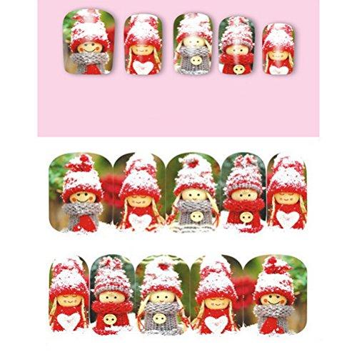 PIXNOR 10pcs Noël adhésif adhésifs autocollants pour nail art