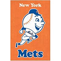 ニューヨークメッツのレトロなロゴスポーツポスター(22x34) 平行輸入