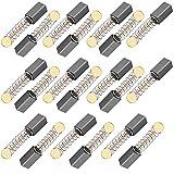 KLYNGTSK 20 PCS Escobillas de Carbón Eléctrica Pulida Cepillos de Carbones de Motor Escobilla de Carbón de Resorte para Reparar Motor Eléctrico, Amoladora Angular, Motos (5x5x11mm, Universal)