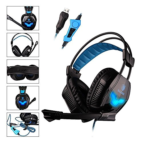 SADES A30S Pro estéreo USB de PC Gaming Headset la venda de...