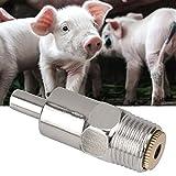 Pssopp 5PCS Acciaio Inossidabile Bevitore per capezzoli Waterer Attrezzatura per l'alimentazione dell'Acqua per Animali da Allevamento per bovini da Mucca Cavallo Maiale
