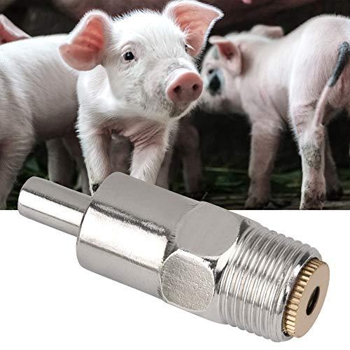 Pssopp 5PCS Bebedero de pezón de Acero Inoxidable Bebedero Equipo de alimentación de Agua para Animales de Granja para Ganado Vacuno Caballo Cerdo