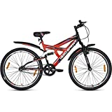 Hero Kids Sprint Next 24T Single Speed Cycle with 17' Steel Frame, (Black/Red)