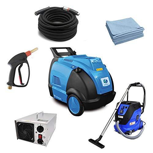 TopSteam Dampfreiniger Diesel Komplettpaket für KFZ Aufbereitung inkl. Sauger, Ozongenerator und Zubehör