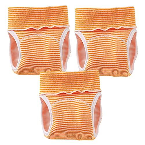 (チャックルベビー) chuckle BABY パンツ式おむつカバー のびのびストレッチパンツ C4070 3枚セット (オレンジ) Y4073-00-60