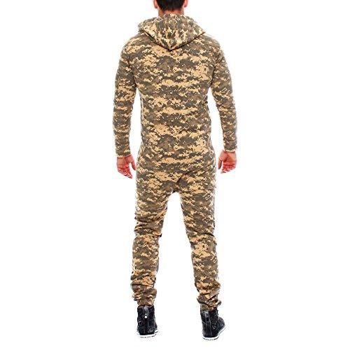 Finchman 85C4 Herren Camouflage Jumpsuit Jogger Jogging Anzug - 3