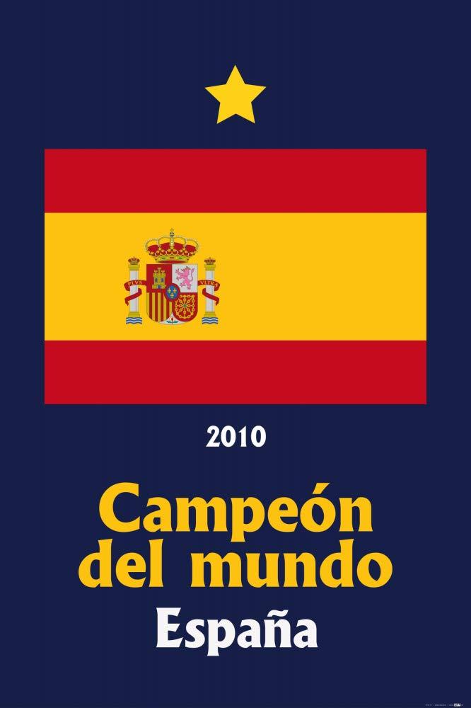 1art1 Fútbol - España Campeon del Mundo 2010 Póster (91 x 61cm): Amazon.es: Hogar
