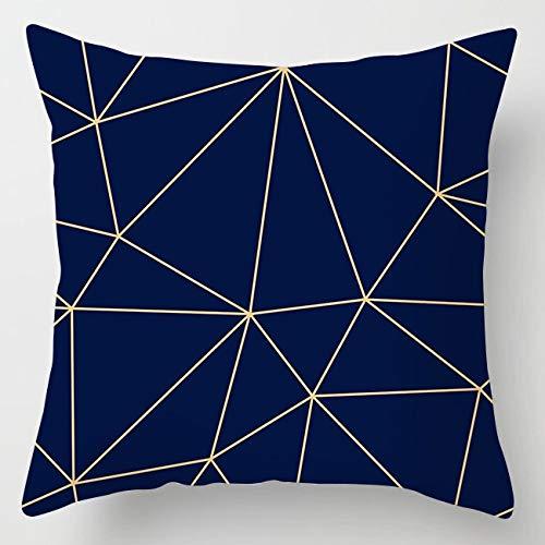 PPMP Fodera per Cuscino in Agata di Marmo Lampeggiante Fodera per Cuscino Decorativa per Divano con Fiori Geometrici Blu Fodera per Cuscino A2 45x45cm 2pc