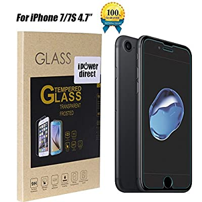 iPowerdirect® Highest Quality Premium Ultra Thin 2.5D Round Edge Sensitive Touch Real Tempered Glass Screen Protector Bubble Free For iPhone 5 iPhone 5S iPhone 5C Anti Fingerprint Anti Water & Oil 9H Anti Scratch Anti Shock Explosion Proof