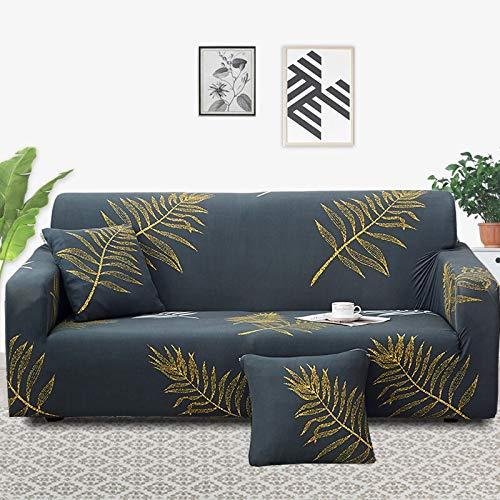 ASCV Funda para Muebles con Estampado Floral Fundas para sofás Funda elástica para sofá para Sala de Estar Funda Protectora Antideslizante para Muebles A1 2 plazas