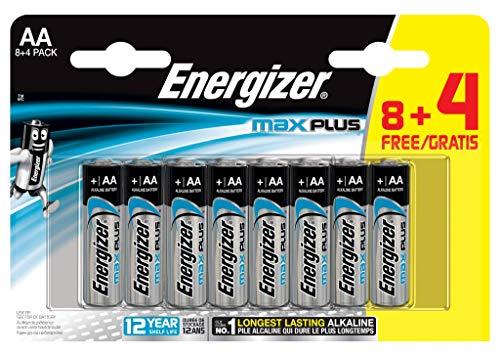 Oferta de Energizer - Pilas alcalinas MAX Plus AA LR6, 12 undiades, Alta tecnologia y Rendimiento