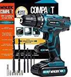 MYLEK MY18VCB 18V Cordless Driver-Lithium Ion Drill Set-13 Piece Combi Accessory Kit-LED Worklight